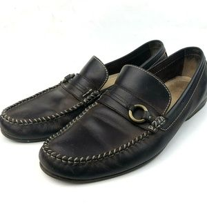 Frye Men's Lewis Ring Leather Moccasin Loafers